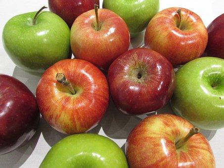 Apples, Red, Green, Rosh Hashana, Jewish, Fruit, Food