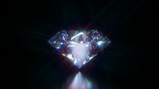 Diamond, Gemstone, Round Brilliant Cut, Jewel, Luxury