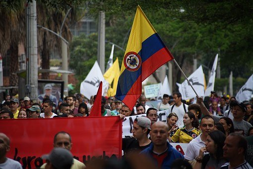 March, Protest, Society, Medellin, Route No, Banner
