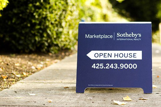 Open House, Sign, Aboard, Marketplace, House, Property