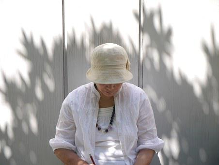 Shade, Scribe, Memo, Jewels, White, Hat, Antomasako