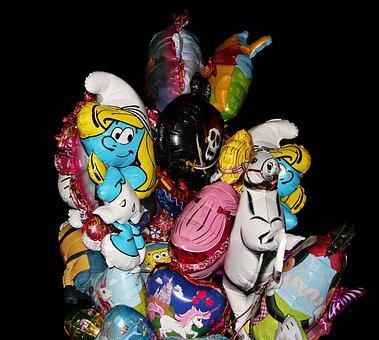 Balloons, Ballons, Motif Ballons, Fun, Colorful, Funny