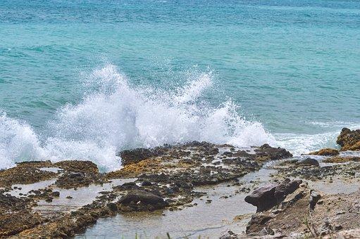 Sea, Beach, Water, Splash, Ocean, Landscape, Side