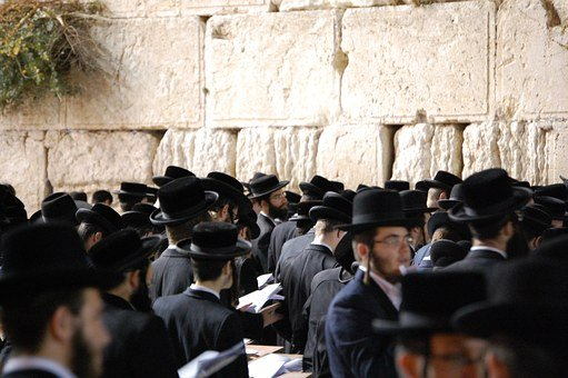 Jerusalem, Wall, Western Wall, Orthodox, Praying, Jew