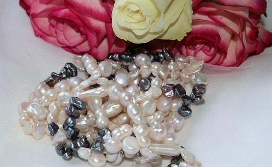 Chain, Pearl Necklace, Pearl White, Pearl Dark