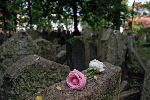 Cemetery, Jewish, Flower, Tombstone, Tomb, Prague