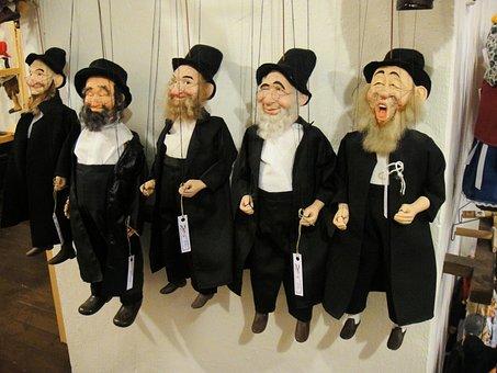 Puppet, Jewish, Hebrew, Caricature, Dolls
