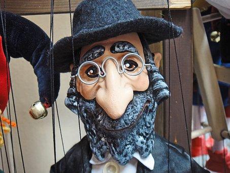 Puppet, Pop, Jewish, Caricature, Hebrew