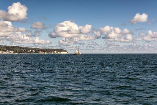 Rügen Island, Rügen, Baltic Sea, Sea, White Cliffs