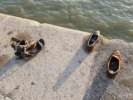 Budapest, Shoes, Bank Of The Danube, Monument