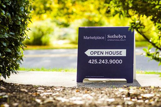 Open House, Sign, Aboard, House, Property, Estate