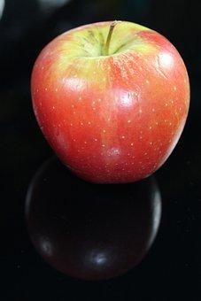 Apple, Red, Stengel, Fruit, Healthy, Vitamins, Food