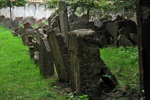 Cemetery, Jewish, Tombstone, Tomb, Prague, Hebrew