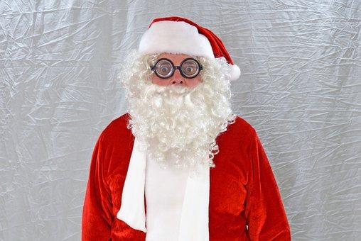 Christmas, Xmas, Santa, Nicholas, Santa Claus, Glasses