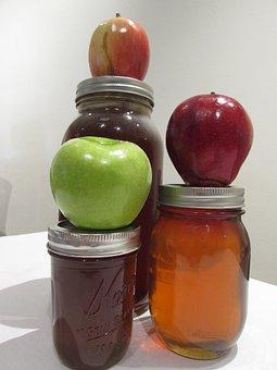 Jewish, Apples, Honey, Judaism, New, Year, Tradition
