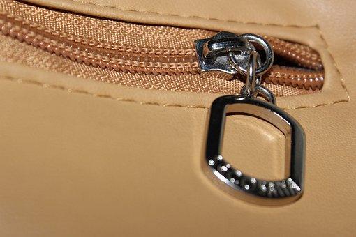 Zipper, Pocket, Zipped, Zip, Leather, Bag, Metal