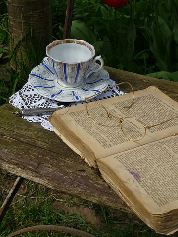 Book Goggles, Teacup, Book Pages, Paper, Study, Rest