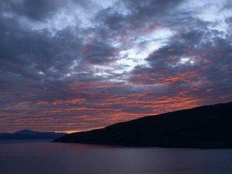 Abendstimmung, Clouds, Sea, Sky, Lake, Sunset, Lighting