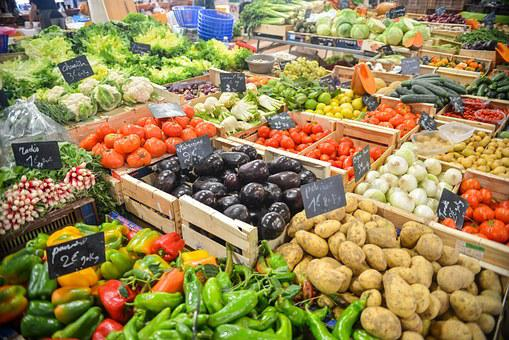 Market, Stand, Vegetables, Variety, Colors, Stall