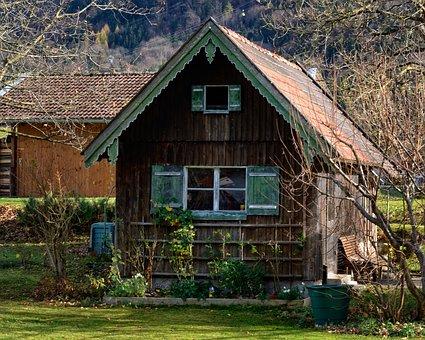 Garden Shed, Hut, Scale, Garden Design, Cottage