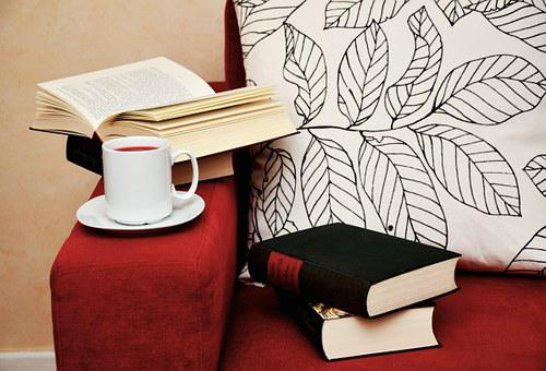 Books, Read, Study, Sofa, Cup, Browse, Coziness