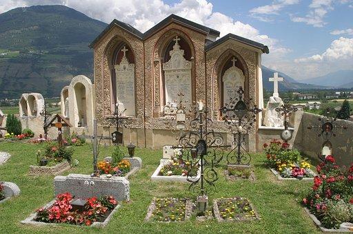 South Tyrol, Val Venosta, Italy, Old Cemetery