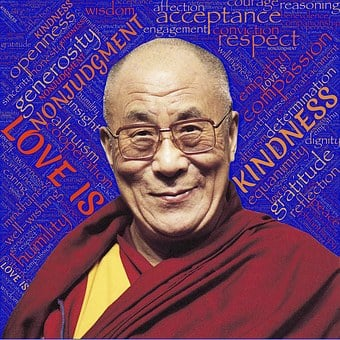 Dalai Lama, Holiness, Love, Loving Kindness