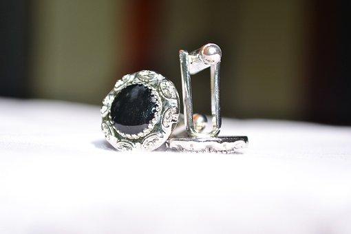 Cufflinks, Jewellery, Silver, Gold, Precious, Money