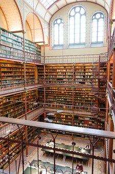 Library, Books, Amsterdam, Rijksmuseum, Visitors