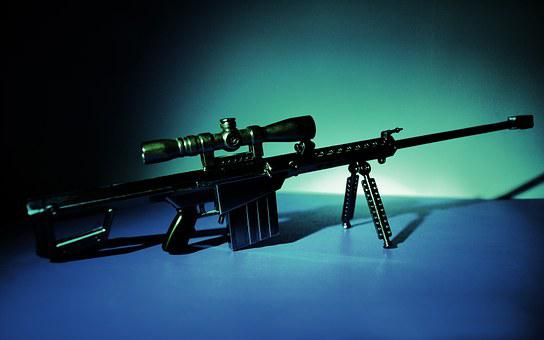 Still Life, Weapons, Sniper Gun, Dangerous Goods, Model