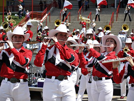 Musicians, Uniforms, Calgary, Stampede, Canada