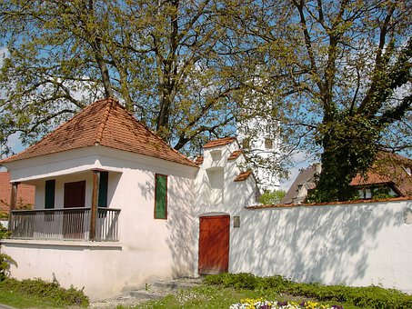 Cottage, Wall, Goal, Door, Freitoerle, Free Bridge