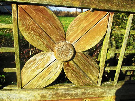 Four Leaf Clover, Luck, Wood, Wood Fence, Close, Carved