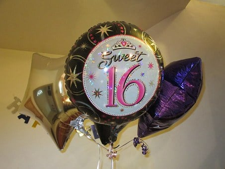 Sweet Sixteen Balloons, Sweet Sixteen, Balloons, 16th