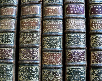 Books, Old, Reading, Antique, Back Of A Book
