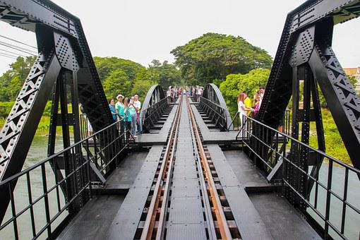 Bridge, Kanchanaburi, River, Music, The Rail Convoy