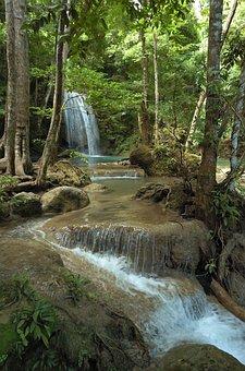 Erawan, Thailand, Kanchanaburi, Cascade, Waterfall