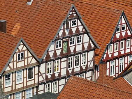 Celle, Lower Saxony, Historic Center, View, Outlook