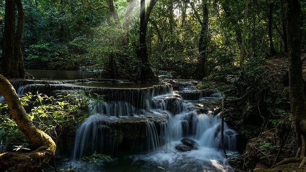 Huay Mae Khamin Waterfall, Kanchanaburi