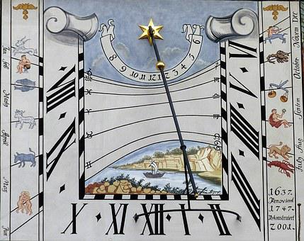 Sundial, Clock, Time Of, Pointer, Time Indicating, Old