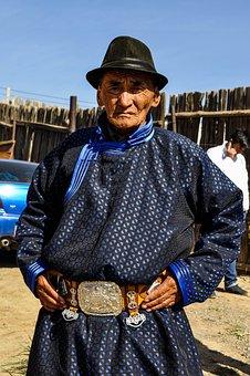 Landsman, Mongolian, Costume, Traditional, Portrait