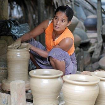 Potter, Clay, Potters, Craft, Potter's Wheel