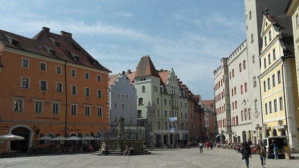 Historic Center, Regensburg, Eastern Bavaria, Bavaria