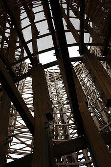 Wooden Rollercoaster, Roller Coaster, Truss
