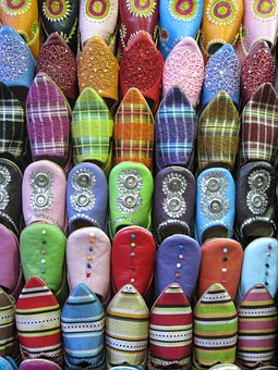 Fez, Morocco, Slippers, Learning, Colors