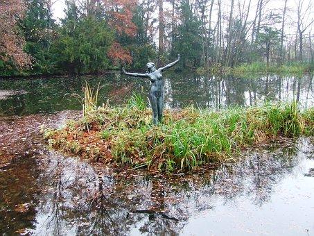 Szeged Hungary, Arboretum, Botanical Szeged, Statue
