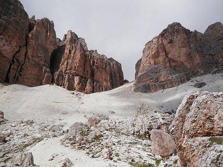 Step, Pordoi Pass, The Saddle, Mountain, Landscape