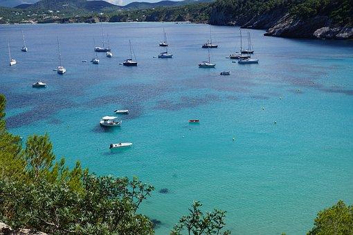 Ibiza, Sea, Bay, Spain, Turquoise, Balearic Islands