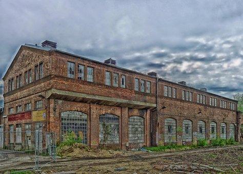 Berlin, Grunewald, Germany, Warehouse, Abandoned, Hdr