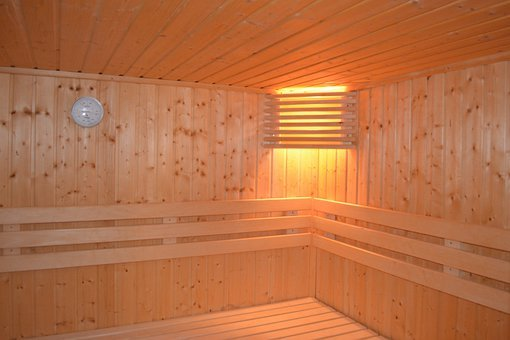 Sauna, Lamp, Heat, Relax, Wood